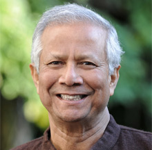 Prof Muhammad Yunus, Founder of the Grameen Bank and Nobel Peace Prize laureate in 2006